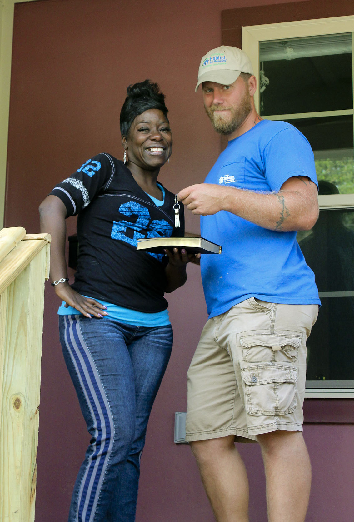 Construction staff with Homeowner